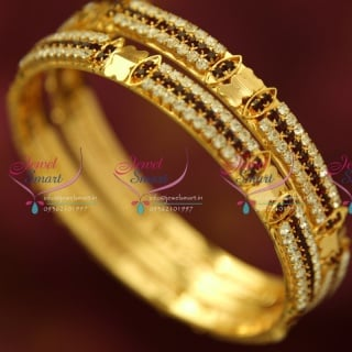 B4378M 2.6 Size 2 Pieces Party Wear White Maroon Stone Fashion Bangles Online