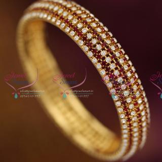 B6494X 2.10 Size Broad White Maroon Grand Single Piece Bangles Buy Online Fashion Jewellery