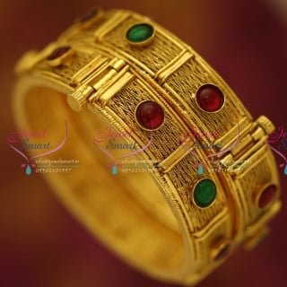 B5588B 2.8 Size Antique Gold Plated Open Type Kada Fancy Bangle Fashion Jewellery