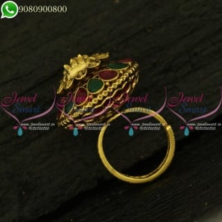 Temple Finger Rings Rotatable Design Rotatable Design Latest Traditional Jewellery Collections F20998