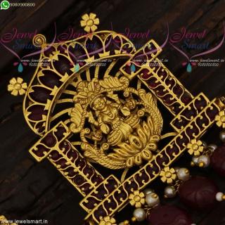 Temple Jewellery Gold Design Pendant Set One Gram Imitation Collections Online