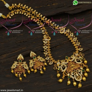 Temple Jewellery Gold Haram Designs In Imitation South Indian Collections