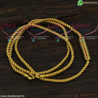 Thali Chain Designs With Mugappu Gold Covering Daily Use Jewellery Collections C21752