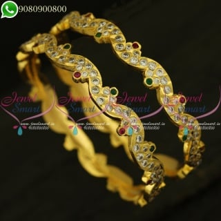 Thick Gold Neli Bangles Traditional Finish Daily Use Jewellery Collections B20916