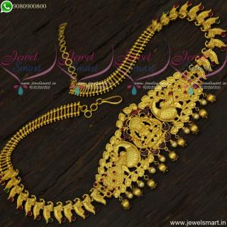 Topnotch Designer Temple Hip Chain Latest Bridal Oddiyanam One Gram Jewellery