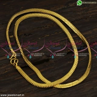 Traditional Flowing Gold Covering Chains For Men Popularly Called Bullet Model In South C23260