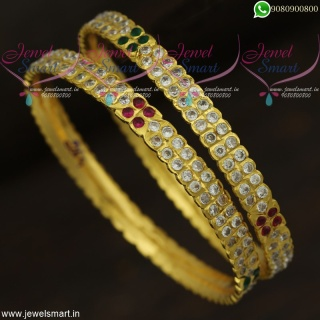Traditional Gold Bangles Design Getti Valayal South Indian Fashion Jewellery B22039