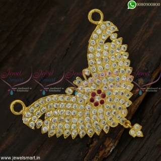 Traditional Gold Pendant Designs Thick Metal Handcrafted Imitation JewelleryP23010