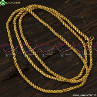 C0752 Traditional Gold Plated Chain 30 Inches 3 MM Thickness
