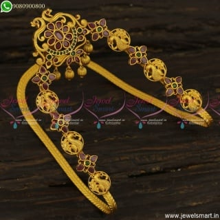 Traditional Gold Vanki Designs Latest Matte Finish Bridal Jewellery Collections V23620