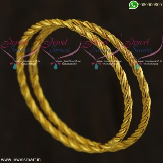 Trendy Bangles Online Gold Plated For Daily Use South Indian Imitation Jewellery B21823