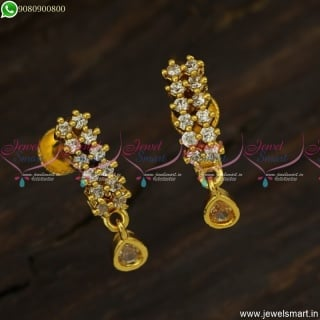 Trendy Gold Plated J Kammal Designs Latest Ear Studs for Women ER23606