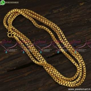 Trendy Long Gold Chain Designs Latest 30 Inches Daily Wear Jewellery C23516