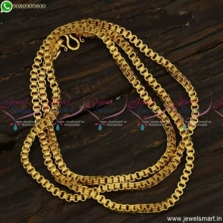 Trendy Long Gold Chain Designs Latest 24 Inches Daily Wear Jewellery C23517