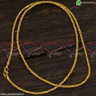 Trendy Models Imitation Gold Chain Designs Fashionable Daily Wear Jewellery Online C23162