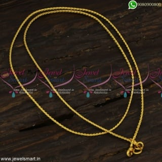 Trendy Thin Gold Chain Designs Inspired from Catalogue Twisted Concept New Collections