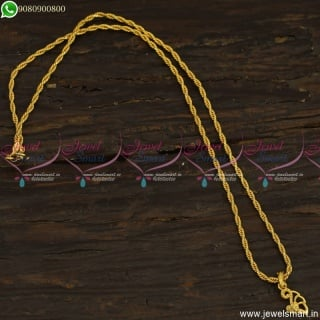 Twisted Chain Pendant Design Small Size Daily Wear Jewellery CS23496