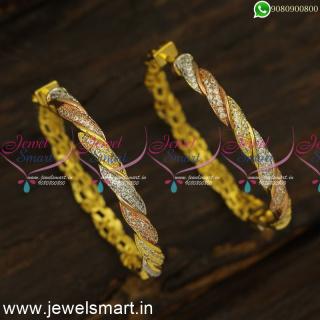 Twisted CZ Designer Bali Earrings Replica of Diamond Jewellery OnlineER24474
