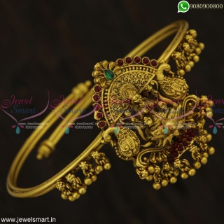 Vanki Designs Latest Temple Laxmi God Engraved String or Bangle Model Online V23097