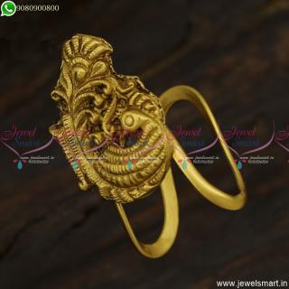 Vanki Ungaram Antique Peacock Traditional Finger Rings Online Latest