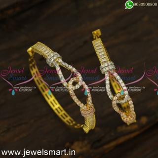 Watch Type CZ Designer Bali Earrings Replica of Diamond Jewellery OnlineER24476