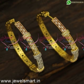 White Marquise CZ Designer Bali Earrings Replica of Diamond Jewellery OnlineER24472