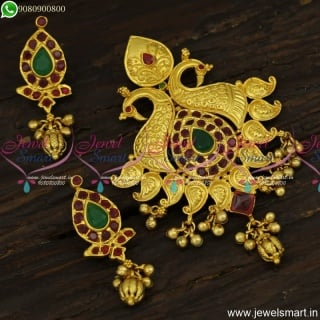 Wonderful One Gram Gold Designer Jewellery Classic Pendant Set Online Shopping PS23912