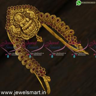 Wonderful Temple Jewellery For Bride Artificial Vanki Designs Bajuband U Type Online V24521