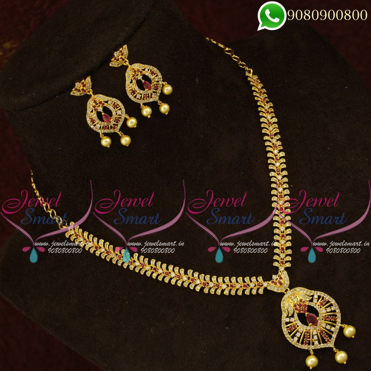 Gold Design Simple Necklace Set Latest Imitation Collections